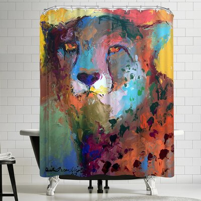 Richard Wallich Cheetah Shower Curtain