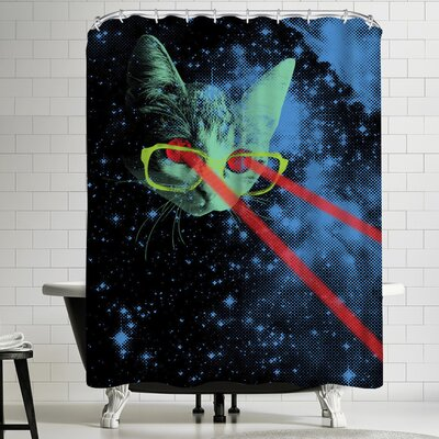Joe Van Wetering Mister Mittens Big Adventure Shower Curtain
