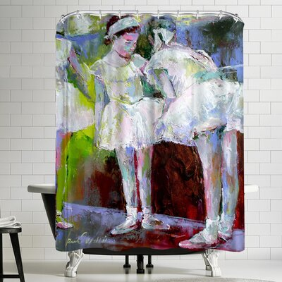 Richard Wallich Dancers Shower Curtain