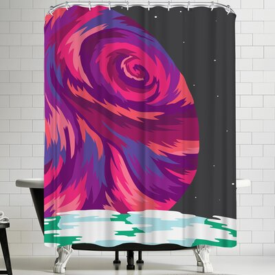 Joe Van Wetering New Moon Shower Curtain
