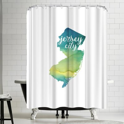 Paperfinch NJ Jersey City Shower Curtain