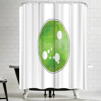 Paperfinch Capricorn Watercolor Shower Curtain