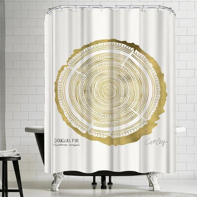 Cat Coquillette Douglasfir Shower Curtain