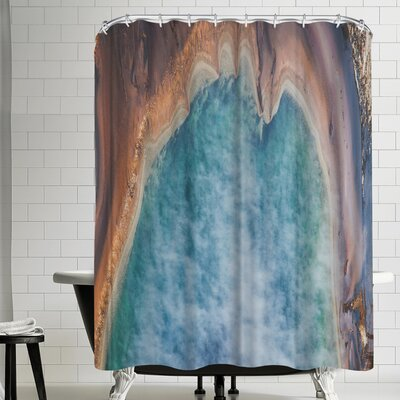 Luke Gram Grand Prismatic Spring Wyoming Shower Curtain