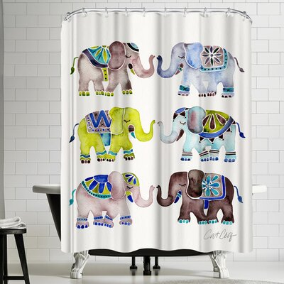 Cat Coquillette Elephant Collection Cool Shower Curtain
