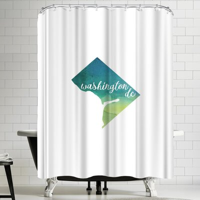 Paperfinch DC Washington DC Shower Curtain