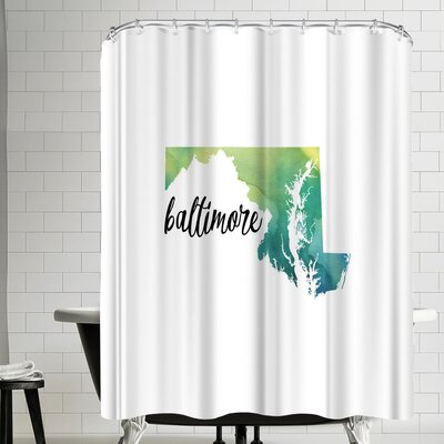 Paperfinch MD Baltimore Shower Curtain