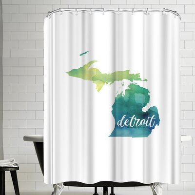 Paperfinch MI Detroit Shower Curtain