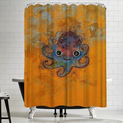 Michael Creese Baby Octopus Shower Curtain