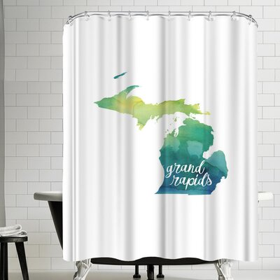 Paperfinch MI Grand Rapids Shower Curtain