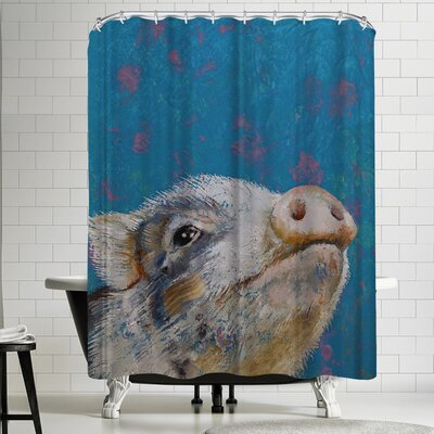 Michael Creese Baby Pig Shower Curtain