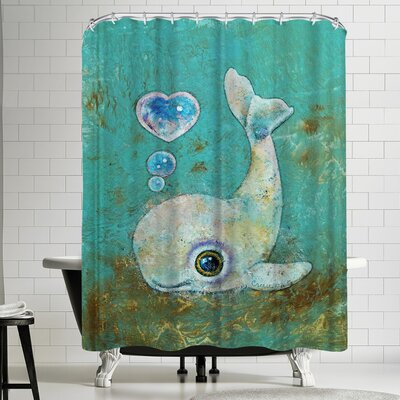 Michael Creese Baby Whale Shower Curtain