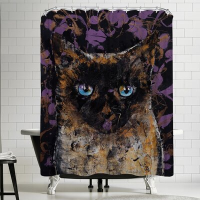 Michael Creese Balinese Cat Shower Curtain