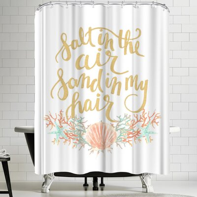 Jetty Printables Salt in the Air Sand in My Hair Typography Shower Curtain