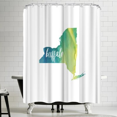 Paperfinch NY Buffalo Shower Curtain