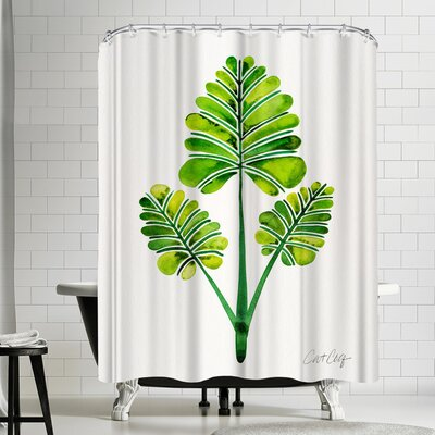 Cat Coquillette Palm Leaf Trifecta Shower Curtain