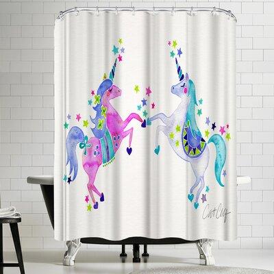 Cat Coquillette Pastel Unicorns Shower Curtain