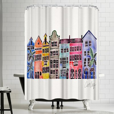Cat Coquillette Rainbow Row Shower Curtain