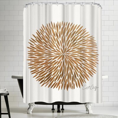 Gold Burst Shower Curtain