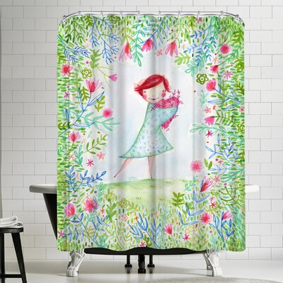 Paula Mills Hearts Are Made for Love Shower Curtain