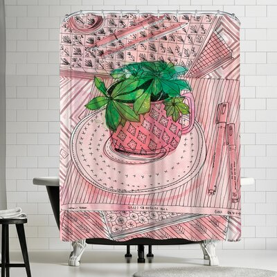 Paula Mills My Favourite Mug Shower Curtain