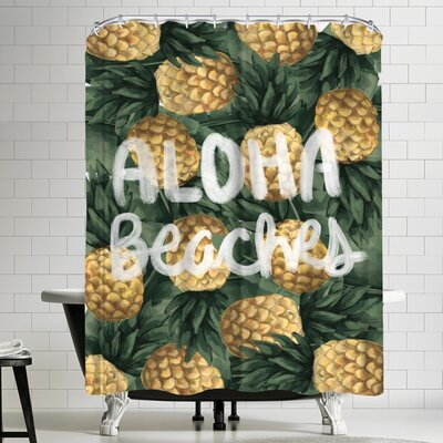 Jetty Printables Aloha Beaches Pineapple Shower Curtain