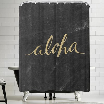 Jetty Printables Aloha Gold Chalkboard Shower Curtain