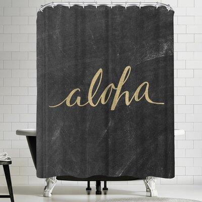 Jetty Printables Aloha Gold Chalkboard Shower Curtain