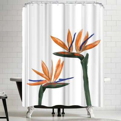 Jetty Printables Birds of Paradise Peekaboo Shower Curtain