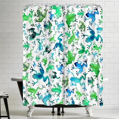 Elena Oneill Tree Frogs Shower Curtain