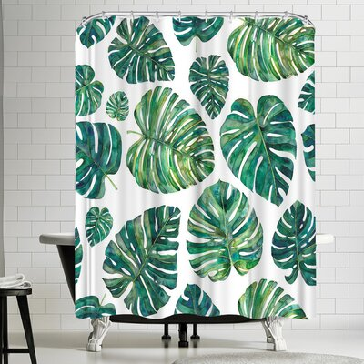 Elena Oneill Tropical Leaves Shower Curtain