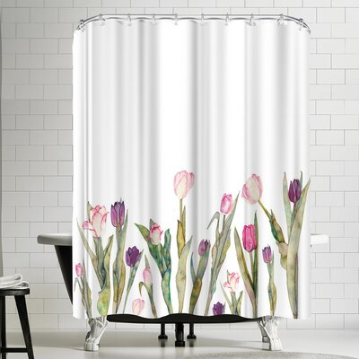 Elena Oneill Tulips Shower Curtain