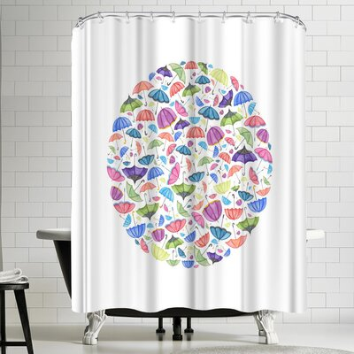 Elena Oneill Umbrella Circle Shower Curtain