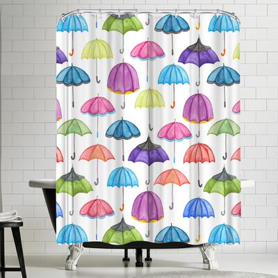 Elena Oneill Umbrellas Shower Curtain