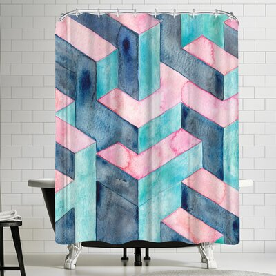 Elena Oneill Watercolor Illusion Shower Curtain