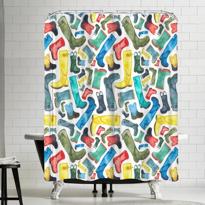 Elena Oneill Wellies Shower Curtain