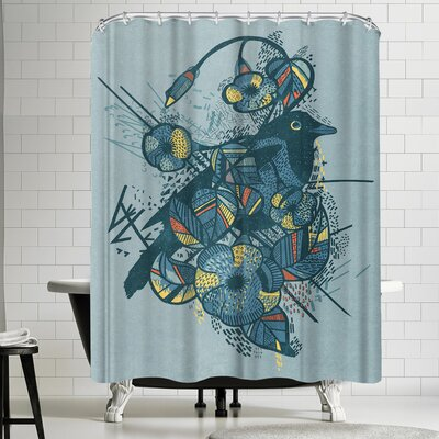 Tracie Andrews Blue Bird Shower Curtain