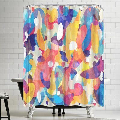 Tracie Andrews Chaotic Construction Shower Curtain