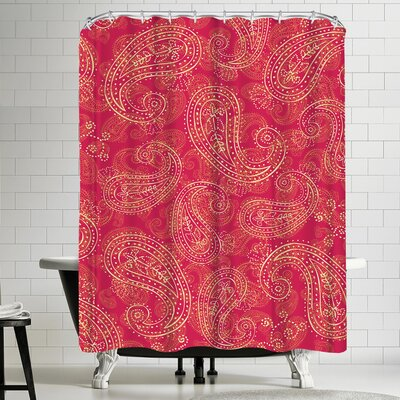 Tracie Andrews Crazy Paisley Shower Curtain