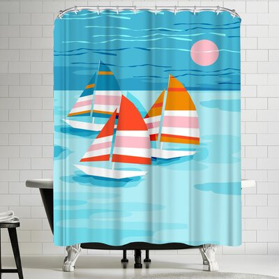 Wacka Designs Popin Shower Curtain