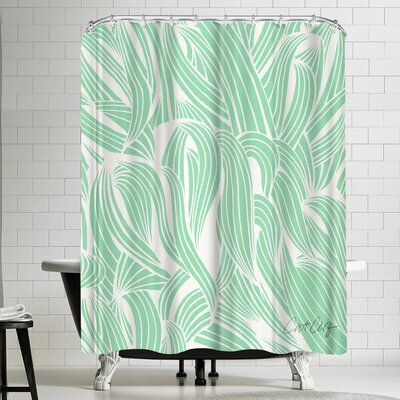 Cat Coquillette Minty Seafoam Shower Curtain