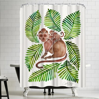 Cat Coquillette Monkeys Shower Curtain