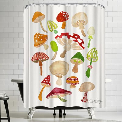 Cat Coquillette Mushrooms Shower Curtain
