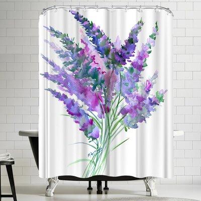 Suren Nersisyan Lavender Flowers Shower Curtain