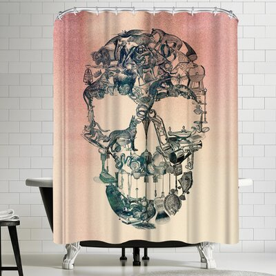 Ali Gulec Skull Vintage Shower Curtain