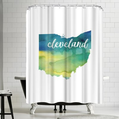 Paperfinch OH Cleveland Shower Curtain