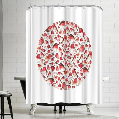 Elena Oneill Robin Circle Shower Curtain