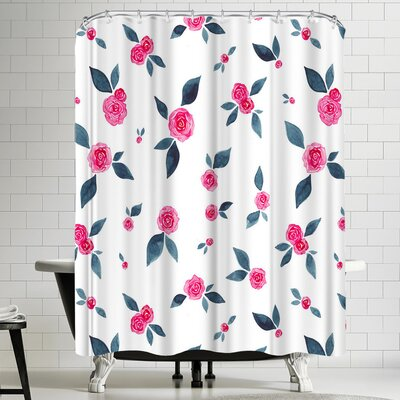 Elena Oneill Roses Shower Curtain