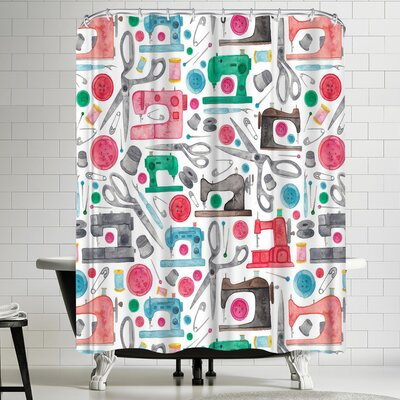 Elena Oneill Sewing Shower Curtain