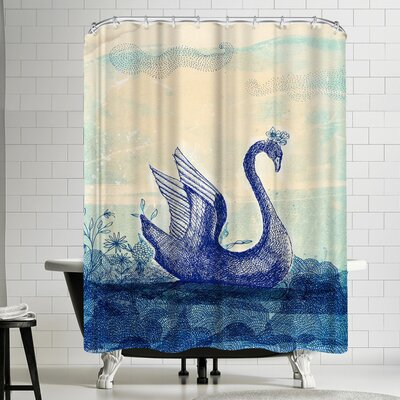 Paula Mills Sailing Swan Shower Curtain